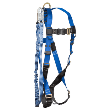 FallTech Harness and Lanyard Integrated Combination 7015 with 8259 - 70158259