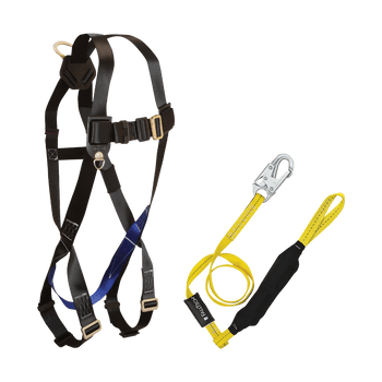 FallTech Harness and Lanyard 2-pc Combination 7007 with 8256LTL - CMB0756LTL