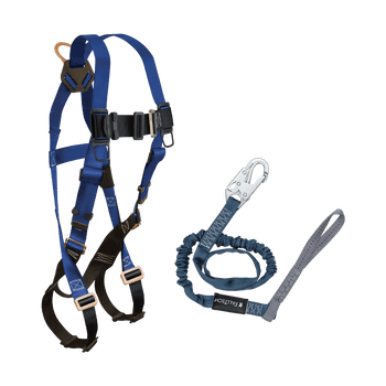 FallTech Harness and Lanyard 2-pc Combination 7015 with 8259L - CMB158259L