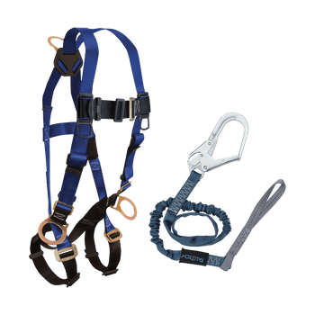 FallTech Harness and Lanyard 2-pc Combination 7017 with 82593L - CMB172593L