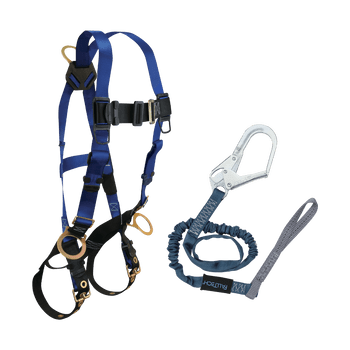 FallTech Harness and Lanyard 2-pc Combination 7018 with 82593L - CMB182593L