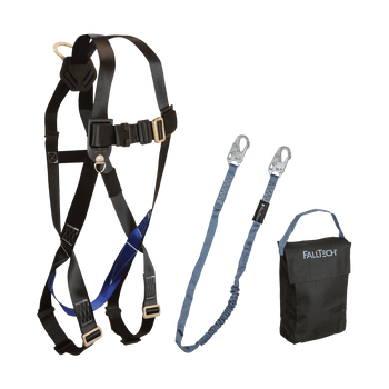 FallTech Harness and Lanyard 3-pc Kit Including Small Storage Bag (7007 8259 5005P) - KIT072595P