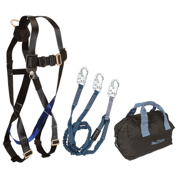 FallTech Harness and Lanyard 3-pc Kit Including Medium storage bag (7007 8259Y 5006MP) - KIT0759Y6P