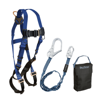 FallTech Harness and Lanyard 3-pc Kit Including Small Storage Bag (7015 82593 5005P) - KIT155935P
