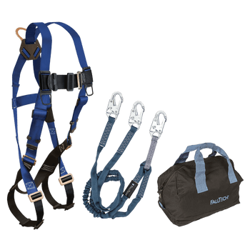 FallTech Harness and Lanyard 3-pc Kit Including Medium Storage Bag (7015 8259Y 5006MP) - KIT1559Y6P