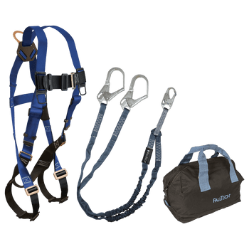 FallTech Harness and Lanyard 3-pc Kit Including Medium Storage Bag (7015 8259Y3 5006MP) - KIT159Y36P