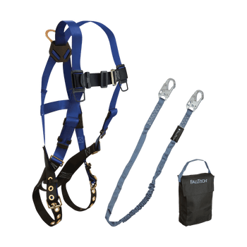 FallTech Harness and Lanyard 3-pc Kit Including Small Storage Bag (7016 8259 5005) - 9001HS