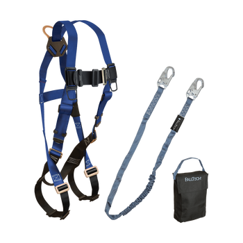 FallTech Harness and Lanyard 3-pc Kit Including Small Storage Bag (7015 8259 5005) - 9005PS