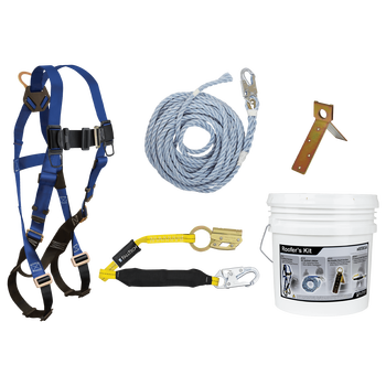 FallTech Roofer's Kit with Single-use Anchor and Manual Rope Adjuster - 8592A