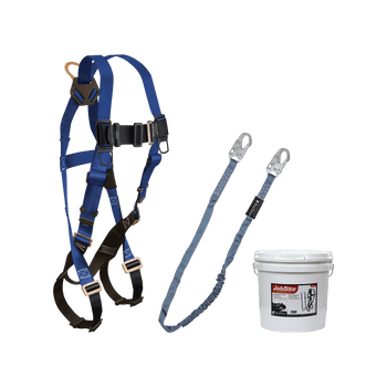 FallTech Harness and Lanyard 2-pc Mini Bucket Kit (7015 8259 2 Gallon Bucket) - 9500Z