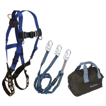 FallTech Harness and Lanyard 3-pc Kit Including Medium Storage Bag (7016 8259Y 5006MP) - KIT1659Y6P