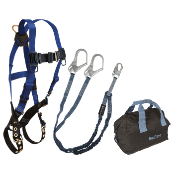 FallTech Harness and Lanyard 3-pc Kit Including Medium Storage Bag (7016 8259Y3 5006MP) - KIT169Y36P