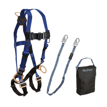 FallTech Harness and Lanyard 3-pc Kit Including Small Storage Bag (7017 8259 5005P) - KIT172595P