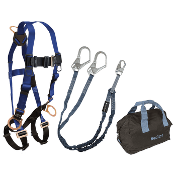 FallTech Harness and Lanyard 3-pc Kit Including Medium Storage Bag (7017 8259Y3 5006MP) - KIT179Y36P