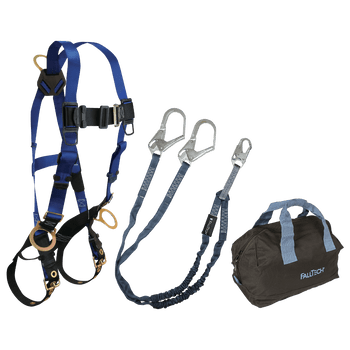 FallTech Harness and Lanyard 3-pc Kit Including Medium Storage Bag (7018 8259Y3 5006MP) - KIT189Y36P