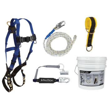 FallTech Roofer's Kit with 6' Pass-trough Anchor and Trailing Rope Adjuster - 9103JK