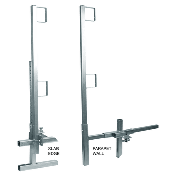 FallTech Portable Construction Guardrail Clamp and Post Set - 6040422
