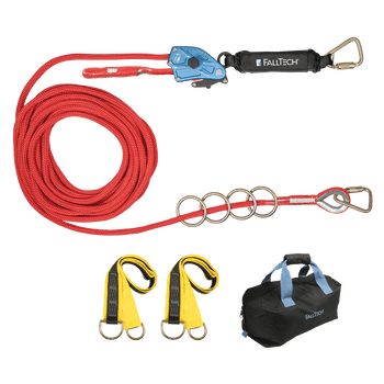 FallTech 100' 100' 4-Person Temp Rope HLL System - 772100