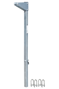 "FallTech 5' Bolt-on Ladder Stanchion Anchor with 12"" Overhead Offset - 6160512"
