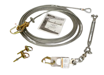 Miller SkyGrip Galvanized Wire Rope Lifeline Kit w/ D-Bolt Anchors [30FT-120FT]