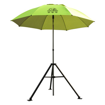Black Stallion UB250-YEL Yellow/Lime FR Industrial Umbrella & Stand Combo