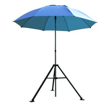 Black Stallion UB250-BLU Blue FR Industrial Umbrella & Stand Combo