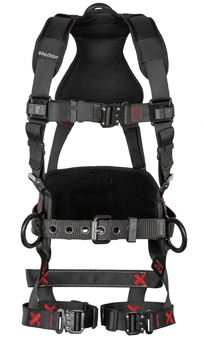 FallTech FT-Iron 3D Standard Belted Harness Quick Connect Buckle Leg Adjustment - Large/XL - 8144QCLXL