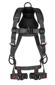 FallTech FT-Iron 3D Standard Non-Belted Harness Quick Connect Buckle Leg Adjustment - 2X/3X - 8142QC2X3X