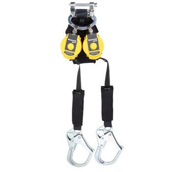 Miller 6-ft TurboLite Flash Twin-Leg Kevlar/Nomex PFL w/Steel Locking Rebar Hooks - MFLAF2-4/6FT