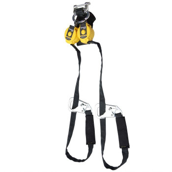 Miller 9-ft TurboLite Flash Twin-Leg Kevlar/Nomex PFL w/Steel Locking Tie-Back Hooks - MFLAFT2-1/9FT