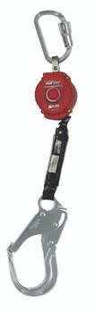 Miller 6-ft TurboLite w/Aluminum Twist-Lock Carabiner and Aluminum Locking Rebar Hook on lanyard end - MFL-12-Z7/6FT