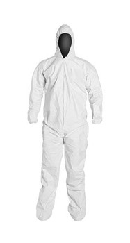 PureGard Polyethylene (PE) Coated Coverall - Attached Hood & Boots - 17122 - (XL - 3XL) - 25/case