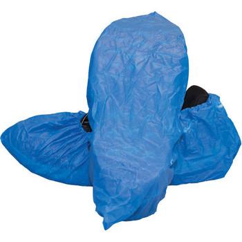 Disposable Blue Polyethylene Plastic Shoe Covers - 150 each/cs