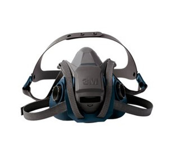 3M 6501QL Series Rugged Comfort Quick Latch Half Facepiece Reusable Respirator - Small