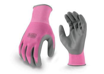 BLACK+DECKER Pink Ladies Foam Nitrile Grip Glove - BD512 - 12/Box