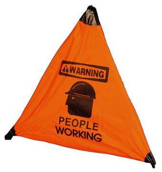 "HANDY CONE FLOOR SIGN, WARNING PEOPLE WORKING, 18"""