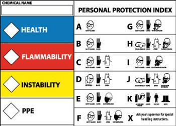 RTK PROTECTIVE EQUIPMENT LABEL, 3X5, PS VINYL, 5/PK