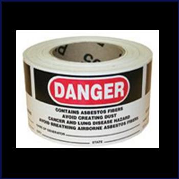 3x5 Asbestos Generator Labels/500