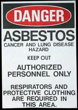 Asbestos Paper Signs 100/pack