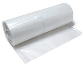 4 Mil 8'x100' Clear Plastic Poly Sheeting & Construction Film