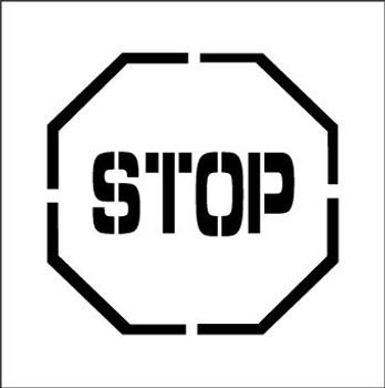 STENCIL, STOP, SYMBOL, 24X24