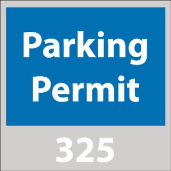 PARKING PERMIT, WINDSHIELD, BLUE, 301-400