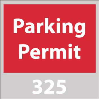 PARKING PERMIT, WINDSHIELD, RED, 401-500