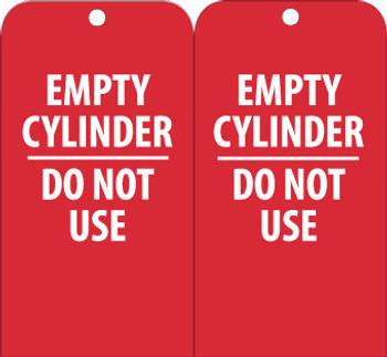 TAGS, EMPTY CYLINDER DO NOT USE, 6X3, UNRIP VINYL, 25/PK
