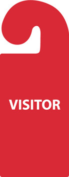 PARKING PERMIT, VEHICLE HANG TAG, VISITOR, 8 1/4X3 1/4, RIGID PLASTIC
