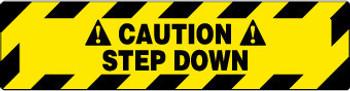 FLOOR SIGN, WALK ON, CAUTION STEP DOWN, 6X24