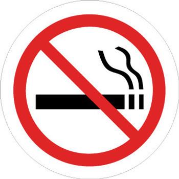 "FLOOR SIGN, WALK ON, NO SMOKING (SYMBOL), 17"" DIA"