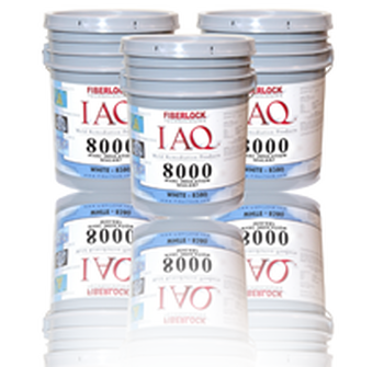 Fiberlock IAQ 8000 HVAC Insulation Sealant - White - 5 Gallon