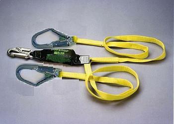 Miller 6 ft. Double Leg Lanyard w/1 Locking Snap Hook and 2 Locking Rebar Hooks- 8798R-Z7/6FTYL
