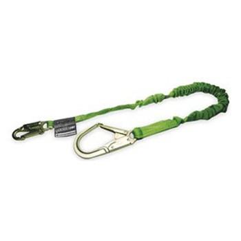 Miller Manyard II 6-ft Lanyard w/1 Locking Snap Hook & 1 Locking Rebar Hook - 219M-Z7/6FTGN